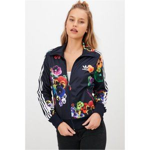 Adidas Floral Burst Jacket Track Size Large